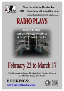 Poster & link for 2018 Radio Play Double Bill